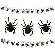 Spinnen Girlande mit ca. 28 Spinnen 3m Halloween Fasching Karneval Party Deko schwarz