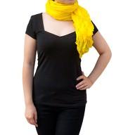 Tuch Schal Chiffon Stola Fashion Outfit Damen Tücher - sonnengelb