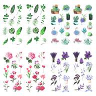 84 Blumen Sticker Pflanzen Aufkleber Vintage Küche Dekoration Scrapbooking Kinder Basteln
