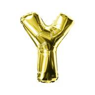 Folien Luftballon Buchstabe Y Geburtstag goldene Hochzeit Party Deko Ballon - gold