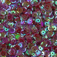1400 Pailletten Konfetti gewölbt - weinrot irisierend