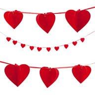 Herz Girlande 3D Herzen Hochzeit - rot