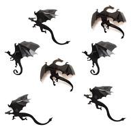 3D Drachen Dino Dinosaurier 7er Set Halloween Wandtattoo Wandsticker