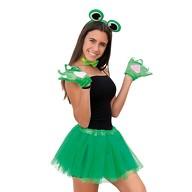 Sexy Frosch Kostüm Accessoire Set - Augen Haarreif + Fliege + Frosch Handschuhe