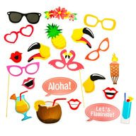 21 Fotorequisiten Fotoaccessoires Sommer Urlaub Party Photo Booth