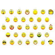 330 Smiley Sticker Set Aufkleber Lächeln Emoji Smily Faces - bunt