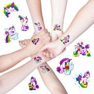 Einhorn Tattoo Set Sticker Trinkende lustige Einhörner temp Tattoos