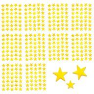 350 Sterne Sticker Aufkleber Glitzernd Funkelnd - gold