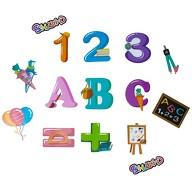 ABC 123 Konfetti Set 15 Stk mit Luftballons Tafel uvm. Schuleinführung Einschulung Streu Deko bunt