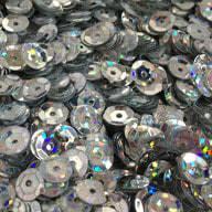 1400 Pailletten Konfetti gewölbt - silber Glitzereffekt