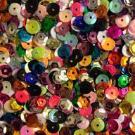 1400 Pailletten Konfetti gewölbt bunt