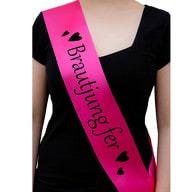 Schärpe Brautjungfer JGA Junggesellinnenabschied Hen Party pink