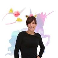 Haarreifen Einhorn Haarreif Unicorn Fasching Karneval JGA weiß