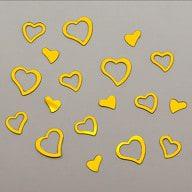 Herz Konfetti Tischdeko Liebe Romantik Hochzeitsdeko - gold