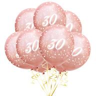 Luftballon Set Zahl 30 für 30. Geburtstag Jubiläum Party 10 Deko Ballons roségold
