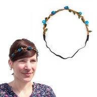 Blumen Haarband Stirnband Haarschmuck Bohemia Kopfschmuck - blau