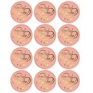 12 Sticker Wir sagen Danke! Aufkleber zum Danke sagen für Gastgeschenk Geschenkdeko rosé