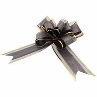 Geschenkschleife Deko Schleifen für Geschenke uvm - schwarz gold