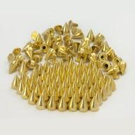 25 Spitznieten Killernieten Ziernieten Metall Nieten Spikes - gold