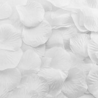 100 Rosenblätter Rosenblüten Hochzeit Valentinstag Hochzeitsantrag Streudeko Romantik Deko - weiß