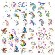 Einhorn Kinder Tattoo Set 94 Stück Farbenfrohe Tattoos zum Spielen für Mädchen zum Kindergeburtstag
