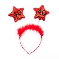 Haarreif Haarreifen 40. Geburtstag Birthday Party - rot