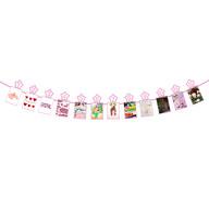 Monatsgirlande 12 Monate + Sterne Baby Girlande Babyshower Mädchen Geburtstag Geschenk - rosa