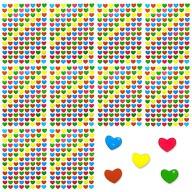 1040 Herz Sticker Herzen Aufkleber Glänzend Scrapbooking - bunt