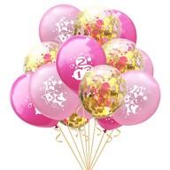 Konfetti Luftballon Set für Schuleinführung Schulanfang Deko Ballons rosa gold