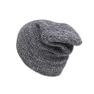 Long Beanie Mütze XXL Damen Herren Kinder Winter Mütze - schwarz-weiss