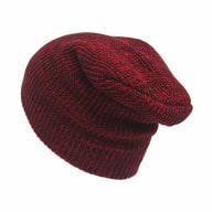 Long Beanie Mütze XXL Damen Herren Kinder Winter Mütze - schwarz-rot