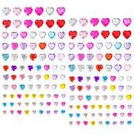 160 Herz Sticker Aufkleber selbstklebend Verzierung Deko Herzen Steine