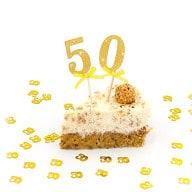 2x Torten Topper Kuchen Aufsatz 50 Geburtstag Jubliäum Kuchen Deko