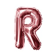 Folien Luftballon Buchstabe R Geburtstag JGA Hochzeit Party Deko Ballon - roségold