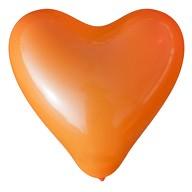 Herz Luftballons Hochzeit JGA Deko Ballon - orange