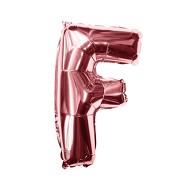 Folien Luftballon Buchstabe F Geburtstag JGA Hochzeit Party Deko Ballon - roségold