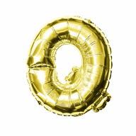 Folien Luftballon Buchstabe Q Geburtstag goldene Hochzeit Party Deko Ballon - gold