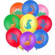 10 Dino Luftballons für Kinder Geburtstag Motto Party Schuleinführung Dinosaurier Ballons Farbmix