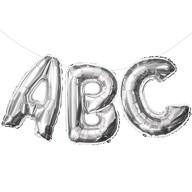 ABC Folienballon Girlande Schuleinführung Einschulung Schulanfang Feier Deko silber