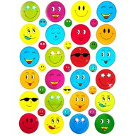 390 Smiley Sticker Aufkleber Face Lächeln Smily Scrapbooking - bunt