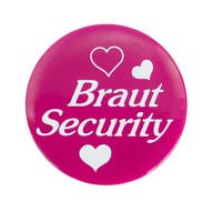 Button JGA Junggesellinnenabschied Hochzeit - Braut Security