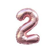 1x Folien Luftballon mit Zahl 2 Geburtstag Jubiläum Party Deko Ballon