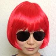 Perücke Damen Kurzhaar glatt Karneval Fasching Party - rot