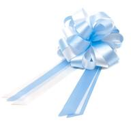 Geschenkschleife mit Geschenkband Groß Deko Schleifen - hellblau weiß