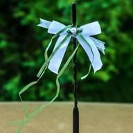 Antennenschleife Hochzeit Deko Schleife 12 cm - hellgrün