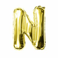 Folien Luftballon Buchstabe N Geburtstag goldene Hochzeit Party Deko Ballon - gold