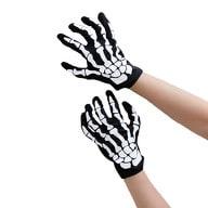 Skelett Handschuhe Halloween Kostüm Karneval Fasching Unisex