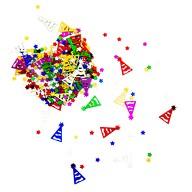 Konfetti Sterne Partyhüte Tisch Deko für Kinder Geburtstag Party Schuleinführung über 300 Stk - bunt