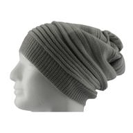 Long Beanie Mütze XXL Damen Herren Kinder Winter Mütze - light grey
