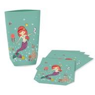 6 Meerjungfrau Geschenktüten Papiertüten für Mädchen Kinder Geburtstag Motto Party Feier Mitgebsel